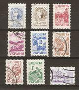 Ukraine - 1992/94 - Séries Courantes - Petit Lot De 9 Timbres° - Cérès - Métiers - Transport - Vrac (max 999 Timbres)