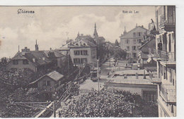 Clarens - Rue Du Lac Avec Tram - 1908     (P-95-60730) - VD Vaud