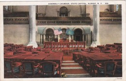 New York Albany State Capitol Building Assembly CHamber Curteich