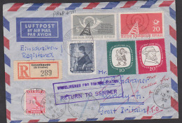 Germany East DDR Recomande Air Mail Cossebaude (Bz Dresden) Nach Lundy Island, Great Britain Mit Retour 1 Puffin - Covers & Documents