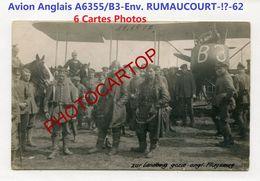 Env. RUMAUCOURT-AVION Anglais-A6355/B3-PILOTES-6x CARTES PHOTOS All.-Guerre 14-18-1 WK-AVIATION-FLIEGEREI-Militaria- - Other Municipalities