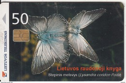 LITHUANIA(chip) - Butterfly, 07/00, Used - Lithuania