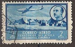 Africa Occidental U 23 (o) Paisaje Y Franco. Aereo. 1951 - Marruecos Español