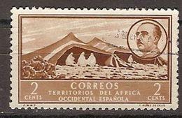 Africa Occidental U 03 (o) Paisaje Y Franco. 1950 - Spanisch-Marokko