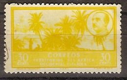 Africa Occidental U 08 (o) Paisaje Y Franco. 1950 - Marruecos Español