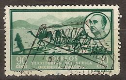 Africa Occidental U 13 (o) Paisaje Y Franco. 1950 - Marruecos Español