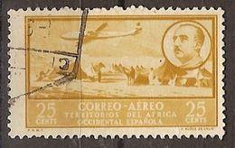 Africa Occidental U 20 (o) Paisaje Y Franco. Aereo. 1951 - Marruecos Español
