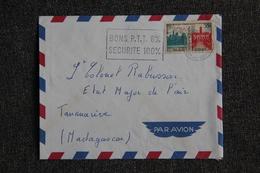 Lettre Envoyée De PARIS à MADAGASCAR - 1921-1960: Modern Period