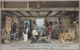 New York Albany Iroquois Indian Exhibit False Face Ceremony Stat