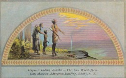 New York Albany Iroquois Indian Exhibit The Sun Worshippers Stat