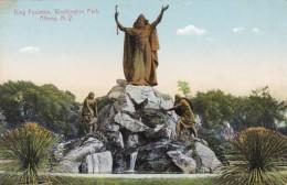 New York Albany King Fountain Washington Park