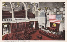 New York Albany State Capitol Building Senate Chamber Curteich