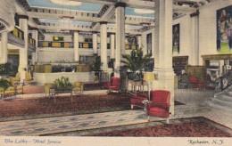 New York Rochester Hotel Seneca The Lobby Curteich