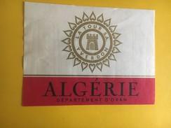 5228 - Algérie, Oran, Mascara 4 étiquettes - Etiquettes