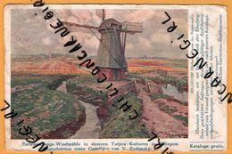 Moulin - Entwässerungs Windmühle In Unseren Tulpen Kulturen In Hillegom - V. RADIMSKY - 1927 - Pays-Bas