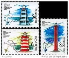 Russia 2006 Lighthouses 3v MNH - Phares
