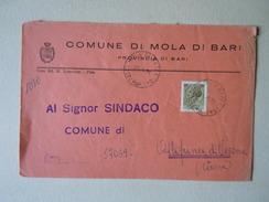 TEMATICA BUSTE COMUNALI - COMUNE DI  MOLA DI BARI 1969 - Buste