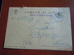 TEMATICA BUSTE COMUNALI - COMUNE DI  CATANIA   1969 - Buste