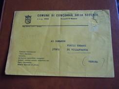 TEMATICA BUSTE COMUNALI - COMUNE DI CONCORDIA SULLA SECCHIA 1969 - Buste