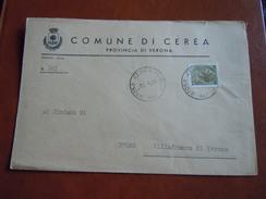 TEMATICA BUSTE COMUNALI - COMUNE DI CEREA   1969 - Buste