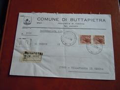 TEMATICA BUSTE COMUNALI - COMUNE DI BUTTAPIETRA  1969 - Buste