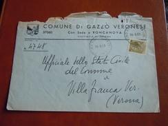 TEMATICA BUSTE COMUNALI - COMUNE DI GAZZO  VERONESE  1969 - Buste