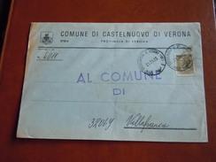 TEMATICA BUSTE COMUNALI - COMUNE DI CASTE NUOVO DI VERONA  1969 - Buste