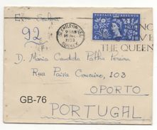 SLOGAN: LONG LIVE THE QUEEN / BEXHILL-ON-SEA / COVER TO PORTUGAL / Caixa #10 - 1952-.... (Elisabetta II)