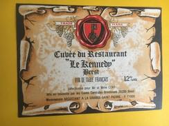 5242 - Cuvée Du Restaurant Le Kennedy Brest - Etiquettes