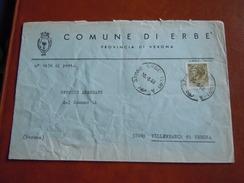 TEMATICA BUSTE COMUNALI - COMUNE DI MONTE ERBE   1969 - Buste