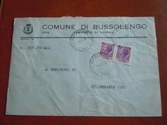 TEMATICA BUSTE COMUNALI - COMUNE DI BUSSOLENGO    1969 - Buste