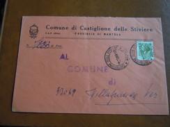 TEMATICA BUSTE COMUNALI - COMUNE DI CASTIGLIONE DELLE STIVIERE   1969 - Buste