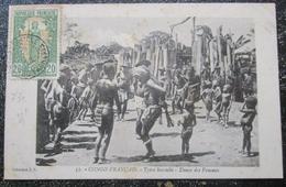 Congo Français Types Bacoulis Danse Des Femmes Cpa Timbrée - Congo Français - Autres