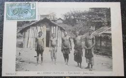 Congo Types Bacoulis Jeunes Gens  Cpa Timbrée - Congo Français - Autres