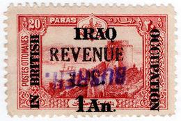(I.B) Iraq Revenue : British Occupation 1a On 20pa (Basra) Inverted OP - Iraq