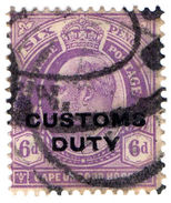 (I.B) Cape Of Good Hope Revenue : Customs Duty 6d - South Africa (...-1961)