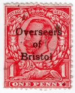 (I.B) George V Commercial Overprint : Overseers Of Bristol (Downey Head) - 1902-1951 (Kings)