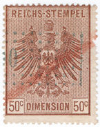 (I.B) France Revenue : Alsace-Lorraine Duty 50c - Europe (Other)