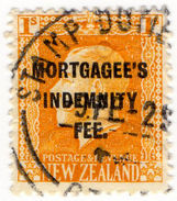 (I.B) New Zealand Revenue : Mortgagee's Indemnity Fee 1/- - Unclassified