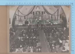 Lévis Quebec Canada  - Animée Messe Mortuaire De 3 Militaires WWII - Grande Photo - Photographe Gosselin,30.5 X 25.5 Cm - Photos