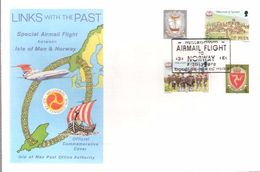 Isle Of Man 1979 Links With The Past, Tynwald Stamps, Millenium Airmail Flight To Norway  Cover With Special Cancellatio - Man (Insel)