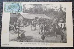 Congo Français Reunion Indigenes Pahouins   Cpa Timbrée - Congo Français - Autres