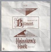 Suikerwikkel.- Embalage De Sucre. ROTTERDAM Boulevard Café - Belmont - Heineken's Hoek. W Van Oordt & Co. Rotterdam - Suiker