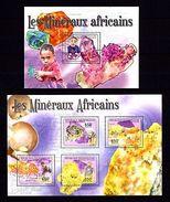 Central Africa 2011 Minerals MNH -(WB4) - Planten