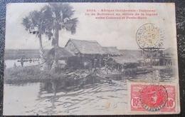 Dahomey Benin Ile Robinson Lagune Entre Cotonou Et Porto Novo Cpa Timbrée - Benin