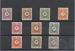 NOUVELLE CALÉDONIE TAXE  Année 1948 N°Y/T 39/48*/** - Timbres-taxe