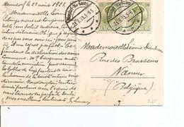 Luxembourg ( CP De 1923 De Mondorf-les-Bains Vers La Belgique à Voir) - Luxembourg