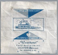 Suikerwikkel.- Embalage De Sucre. OCHTEN (Betuwe). Café Restaurant - WAALHOTEL -  W Van Oordt & Co. Rotterdam - Suiker