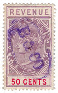 (I.B) Malaya (Straits Settlements) Revenue : Duty Stamp 50c - Great Britain (former Colonies & Protectorates)