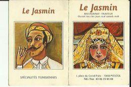Carte De Visite Du JASMIN   Restaurant Traiteur A VESOUL 70  Voir Scan Details - Cartoncini Da Visita